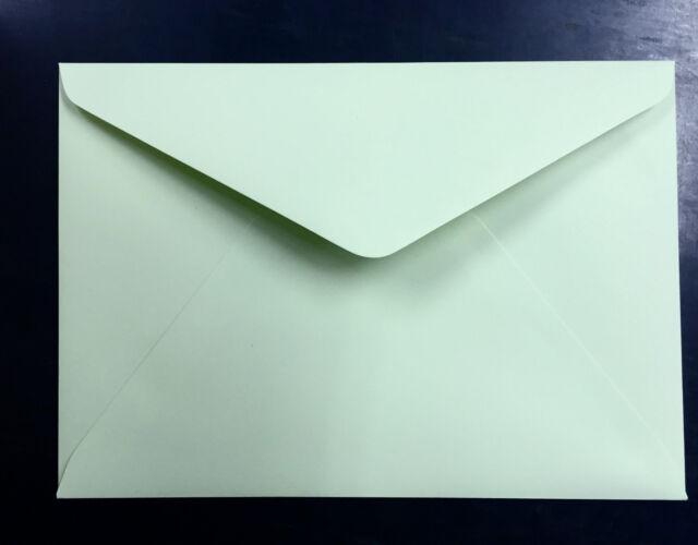 60 Envelopes PASTEL GREEN C5 Large (162x229mm) 130GSM