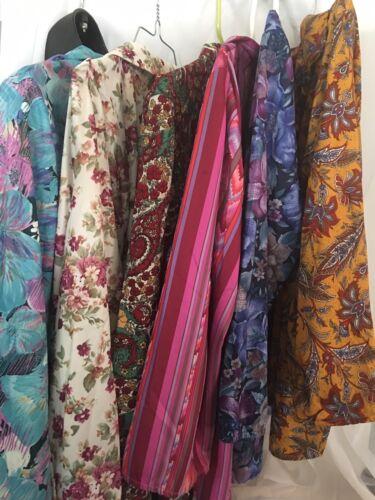 VTG Lot Haband Blouse Tops Womens Floral Mod Paisl