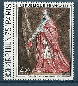TIMBRE 1766 NEUF XX LUXE - PHILIPPE DE CHAMPAIGNE PORTRAIT DE RICHELIEU