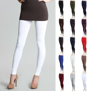 89422077ffe7f2 Image is loading High-Quality-Seamless-Basic-Solid-Leggings-Good-Stretch-