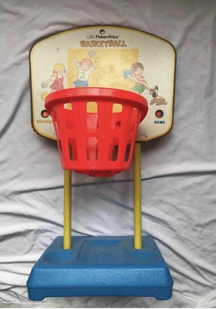 Vintage 1973 Fisher-Price basketball hoop Kids Pretend Pretend Pretend Sports Play eb37c5