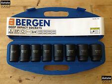 "Deep Impact Socket Set by Bergen 3/4"" Drive 6 Point Metric 24-38mm 8 Piece"