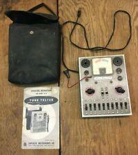 Vintage Superior Instruments Tc 55 Tub Tester Tv Radio Television Bag Amp Manual