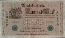 1910 German Empire Huge 1000 Mark Banknote GREEN SEAL