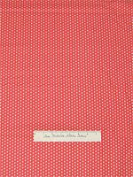 Fabric Traditions - White Polka Dot On Salmon Pink - Cotton 1.80yd