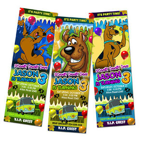 SCOOBY DOO BIRTHDAY PARTY INVITATION TICKET FIRST 1ST c1 CARD