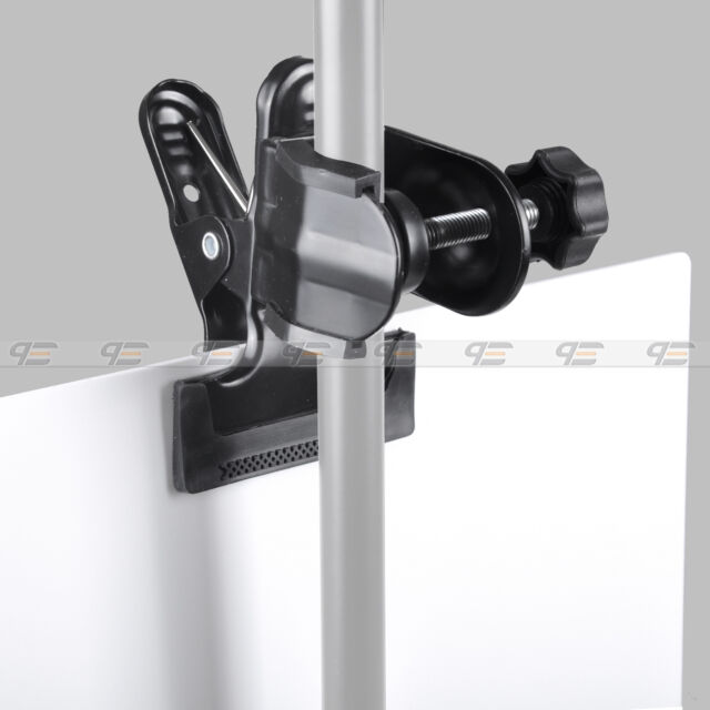 Multi-functional Backdrop Clamp with Photo studio Light Stand C/U Clamp Clip