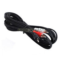 16ft Aux Audio 3.5mm Plug Jack Stereo Male to 2 RCA Y Cable For IPOD MP3 MP4 PC
