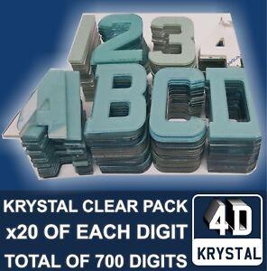 Highline Gel Domed Self Adhesive Number Plate Digit 6