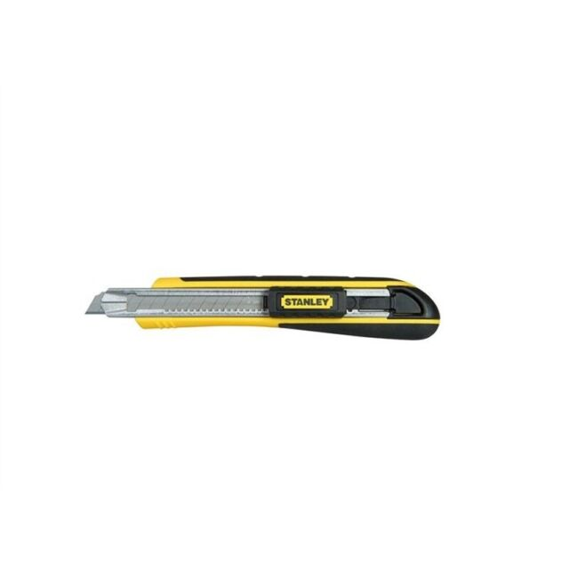 Stanley FatMax 9mm Rubber Grip Snapoff Stainless-Steel Knife Removable Blade