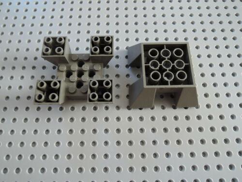 Lego 2 x Sockelstein Vierfachstein 30373 alt  dunkelgrau  6x6x2  4479 7146 7150