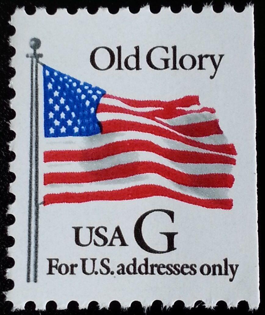"1994 32c ""G"" Old Glory, Black G, Booklet Single Scott 2"