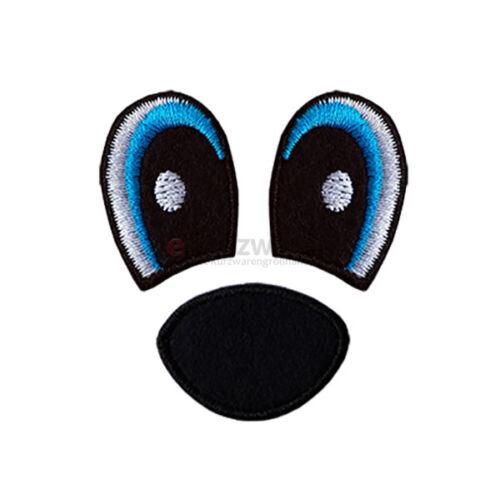 Patches Augen Set Aufbügler Abzeichen Bügelbild Aufnäherbild Sticker Aufnäher