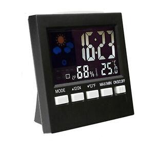 Affichage-a-DEL-du-thermometre-radio-reveil-pour-station-meteo-numerique