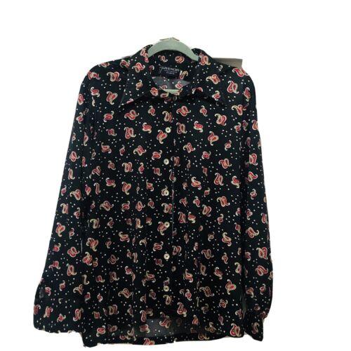 Vintage Givenchy Paris Men's Disco Shirt - XL - Ha