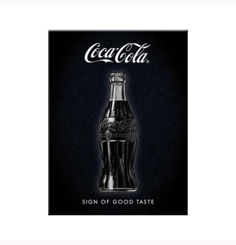 SIGN OF GOOD TASTE/' 8x6cm COKE Licensed Retro Metal Magnet /'COCA COLA
