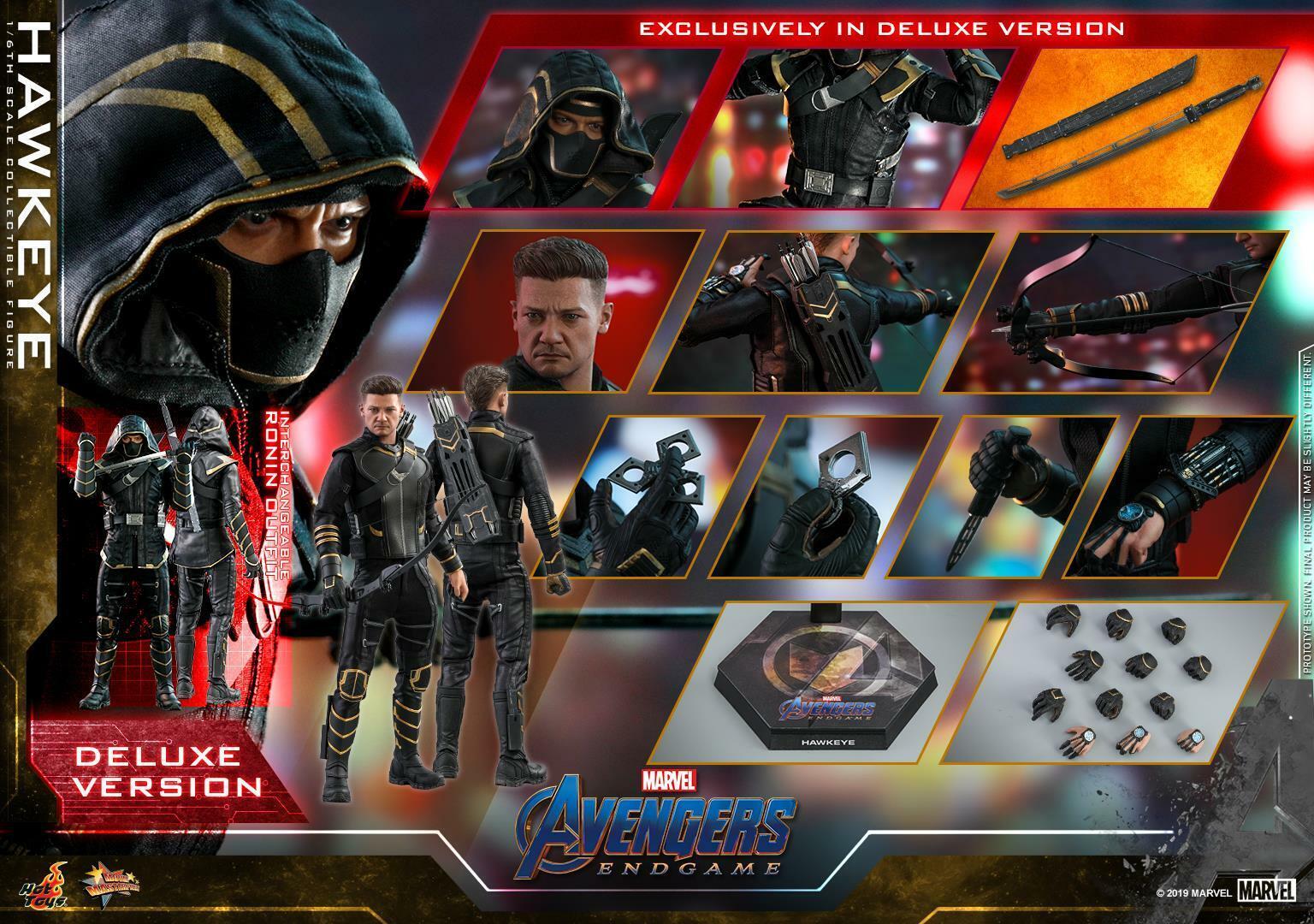 Hot Toys 1 6th scale Hawkeye (Deluxe Version) Avengers Endgame Endgame Endgame Figure MMS532 32d360