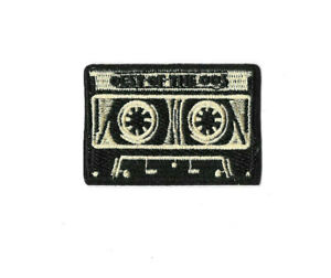 TAPE-CASSETTE-Iron-on-Sew-on-Patch-Embroidered-Badge-Music-Band-PT571