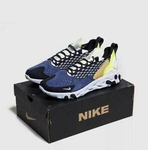 Nike-reagissent-sertu-Homme-Bleu-Noir-Blanc-Chaussures-Baskets-Sneaker-UK-6-12