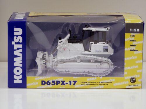 """300 Made 1//50 /""""WHITE /& BLACK/"""" Komatsu D65PX-17 Dozer First Gear #50-3249"""