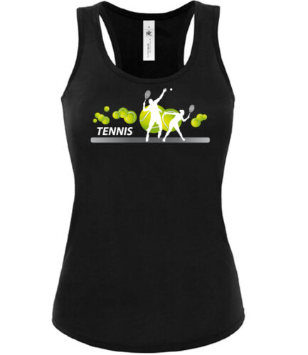 Tennis Fan Sport Tank Top Damen S-XL