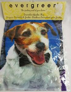Jack-Russel-Terrier-Puppy-Dog-Pet-Decorative-Garden-Flag-Fabric-Bright-Colors