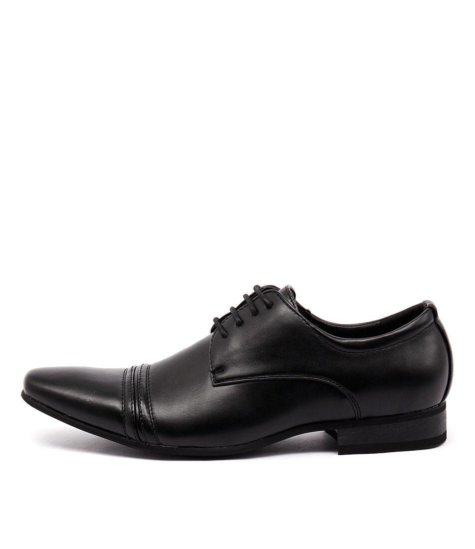 New Uncut Bartell Dress Black Mens Shoes Dress Bartell Shoes Flat a9632f