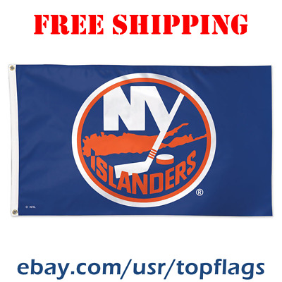brand new d1147 a758a Deluxe New York Islanders Logo Flag Banner 3x5 ft 2019 NHL Hockey Fan Gift  NEW | eBay