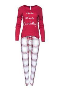 """LOUIS & LOUISA  """" Heute ist mein Kuscheltag """" Pyjama rot Gr. L und XL   NEU"""