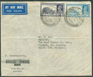 L-039-Inde-britannique-a-la-Grande-Bretagne-Air-Mail-Cover-1940