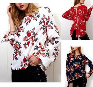Camicia Autunno Manica Lunga Donna Asimmetrica Woman Long Sleeve Shirt 541012 P