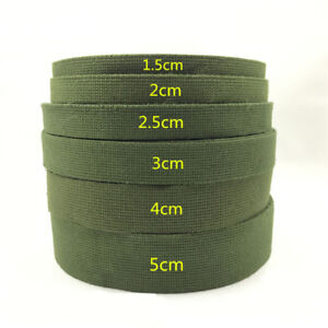 Green-20m-Length-Ribbon-Webbing-Knapsack-Strapping-Sewing-Bag-Belt-Accessories