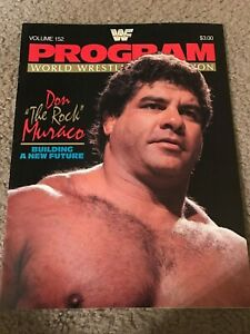 Details about 1987 WWF PROGRAM #152 MAGNIFICENT DON MURACO THE ROCK ISSUE KING HARLEY RACE 80s