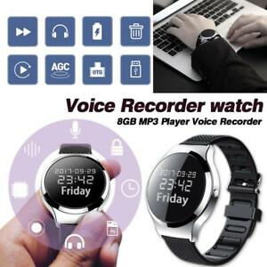 8gb Digital Voice Recorder Wristband Voice Activated Record Noise Cancel Files Encryption Mp3 Music Player Pen Dictaphone Hidden Digital Voice Recorder