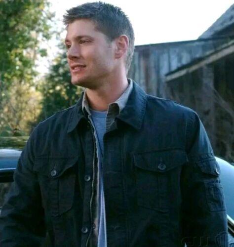 Giacca Winchester Jacke Dean Gap militare Blau L Blue Supernatural Prop rwEAqrWO