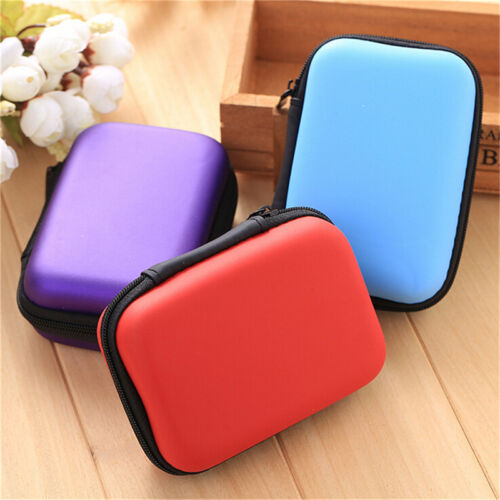 Fashion Headset Protect Carry Hard Case Bag Storage Box Headphone Earphone TSUS