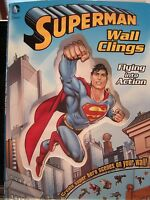Superman Wall Clings Flying Into Action Paperback 27 Clings