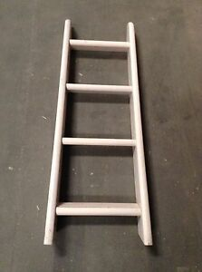 Flexa 4 Step Slanted Whitewash Ladder W Gray Rail Flexa