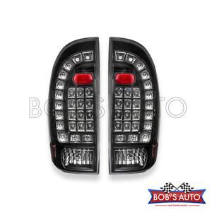 For 05-15 Toyota Tacoma SR5 PreRunner Black LED Tail Lights Brake Signal Lamps