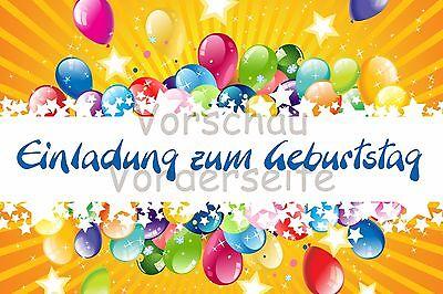 5er Set - Einladungskarten Kinder Geburtstag 10x15 inkl. Umschläge - D 16