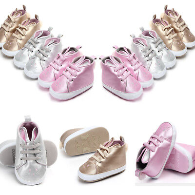 Baby Girl Newborn Infant Baby Rabbit Casual Sneaker Bling Casual Leather Shoes