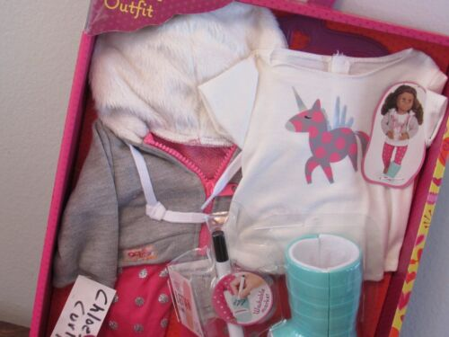 """Our Generation GET WELL SOON UNICORN Clothes Outfit w Cast Set 18/"""" Girl Doll NEW"""