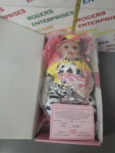 """NPK Pinky Reborn realistica 18/"""" Bambina Bambola in vinile in silicone NUOVO CERTIFICATO W"""