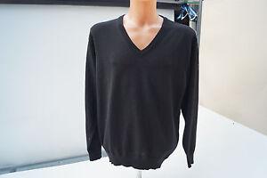 MÄRZ Herren Men V Neck Pullover Strickpullover Schurwolle Gr.52 L XL schwarz #2