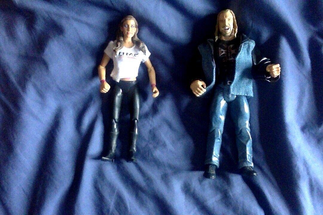 WWE Jakks Classic Superstars HHH HHH HHH and Stephanie McMahon Helmsley Era RARE figures 6a6a27