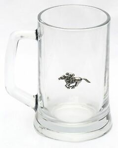 Vespa Scooter Drinking Tankard 1 Pint With Pewter Emblem