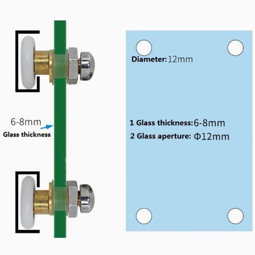 Replacement Single Shower Door Rollers Runner Pulley 22//24//26//28mm Diameter