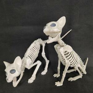 Halloween-Dog-Skeleton-Prop-Animal-Bone-Model-Horror-Party-Decoration-M0Y8
