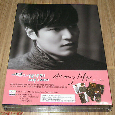 LEE MIN HO MINHO ALL MY LIFE LIMITED EDITION PHOTOBOOK + DVD & FOLDED POSTER