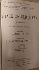Coleridge-Taylor: A Tale Of Old Japan: Music Score (A6)